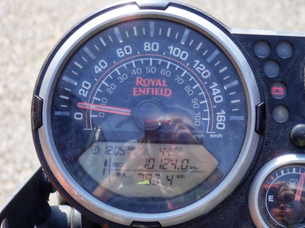 Merentasolla mittari näytti 44C!