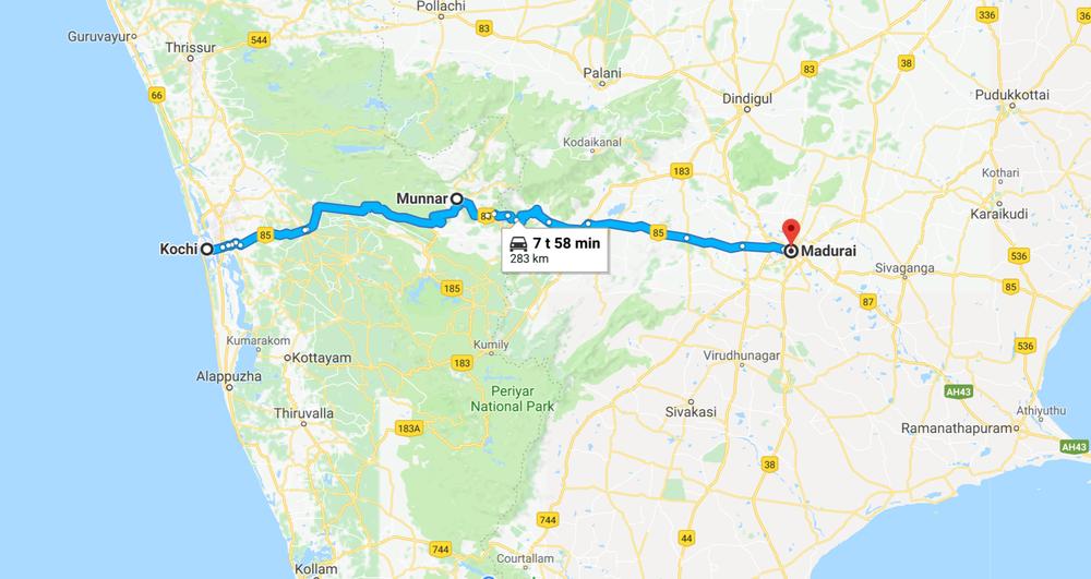 Intian mittakaavassa tänäänkin pitkähkö päivä - luvassa rannikkoa ja Kochinin taajamaata, Nilghiri vuoriston ylitys ja kyläpolkuja Maduraihin asti! Hanurit on kuitenkin lepuutettu vapaapäivän aikana ja kaasukättäkin jo hieman kutittaa - ei muuta kun matkaan! :)