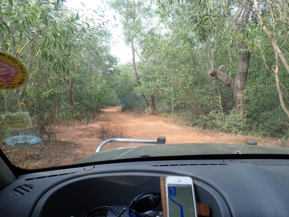 Tuttuun tapaan huoltoauton kyytiin ja kypäräkaljojen metsästykseen! :)