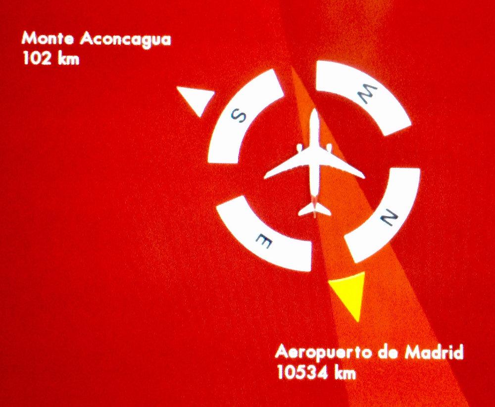 Iberian 13 tunnin yölento Madrid-Santiago alkaa olemaan laskeutumista vaille paketissa.