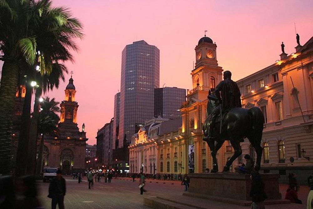 Santiagon sydän on Plaza De Armas.