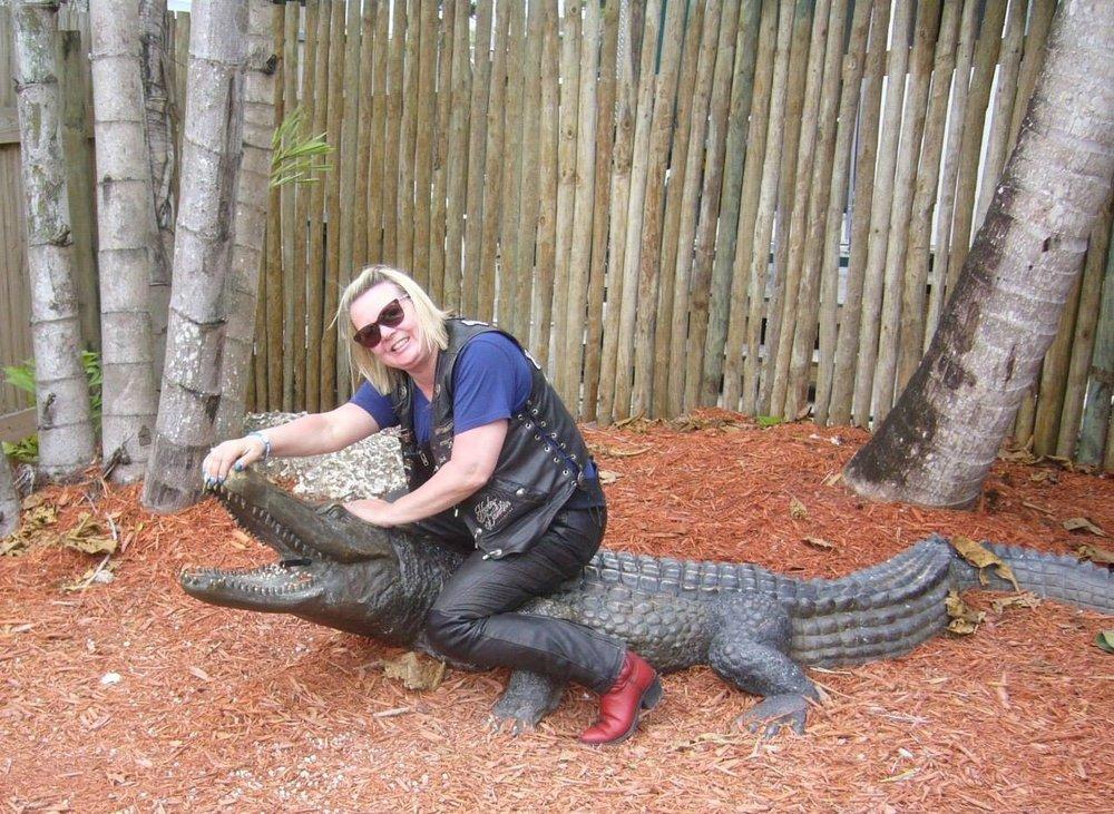 Yksi alligaattori meinasi karata, mutta onneksi Ilse on katsonut pienenä kaikki Tarzanit ja tiesi miten toimia!