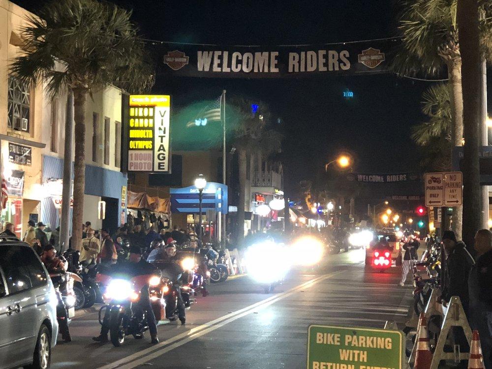 Main Street by night.