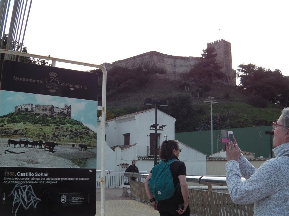 Castillo Sohail, upea vanha linnoitus ihan hotellimme vieressä.