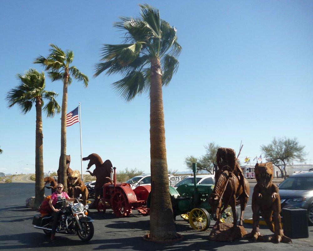 Paikallinen turisti paistattelee Arizonan auringossa ;)