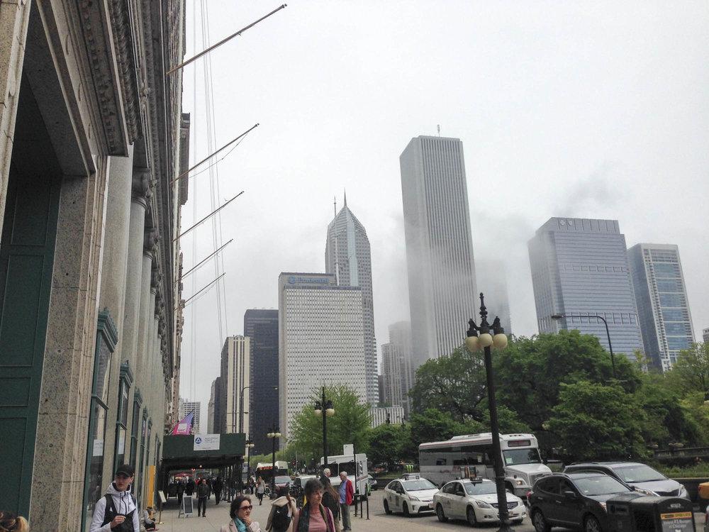 Raskaat pilvet Chicagossa