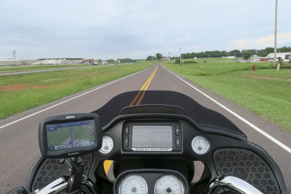 Route on vielä aika tasaista Missourissa.