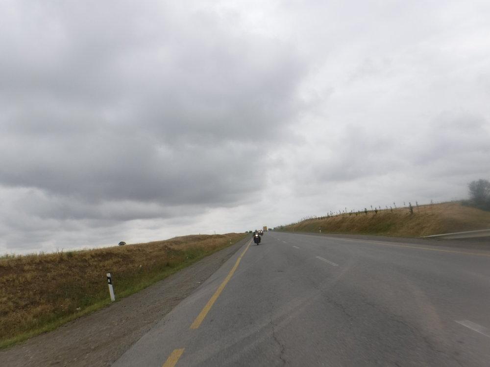 Alkumatka oli pilvistä mutta kuivaa.