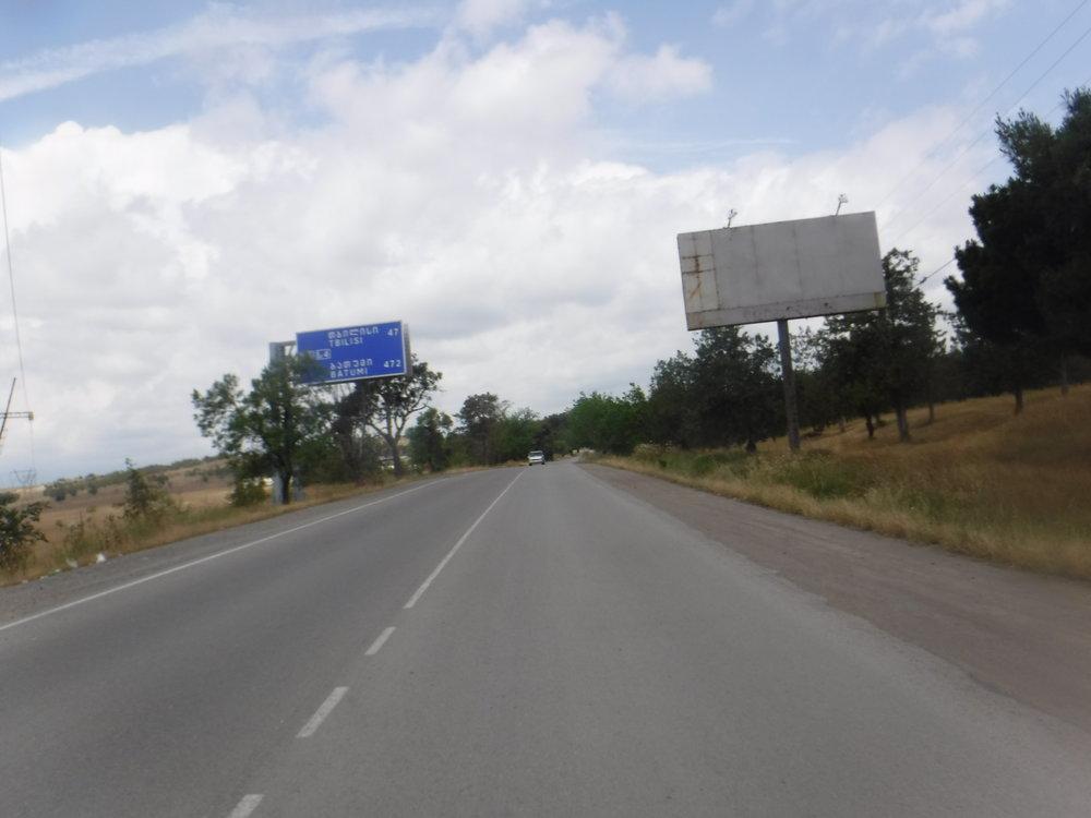 Georgian puolella kohti Tbilisiä.