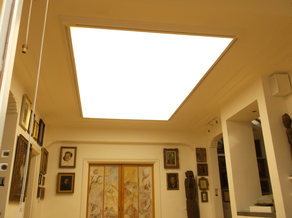 Stretch ceiling lighting diffuser