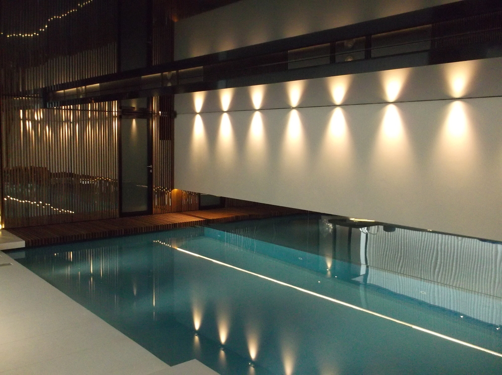 Swimming Pool Ceiling and Lighting