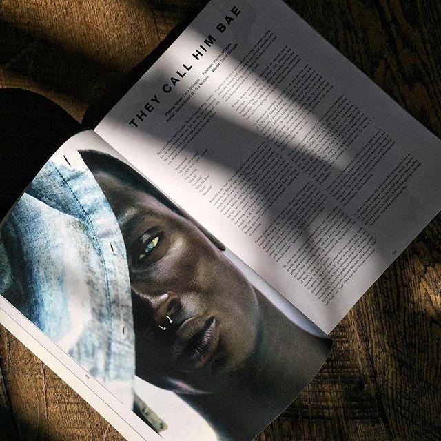 "Read ""They Call Him Bae"" on SCRUGGS' website. Link in bio 👆 Model: @septumpapi Stylist: @raytell_bridges photo & words: @danascruggs #printmagazine #blackmodel #malemodel #blackfashion #scruggsmagazine"