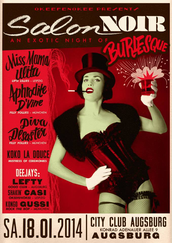 Salon Noir Flyer by Marcel Bontempi