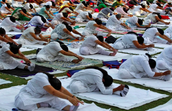 Yoga is popular around the world. But it might have to get less popular in Russia now.(Amit Dave/Reuters)