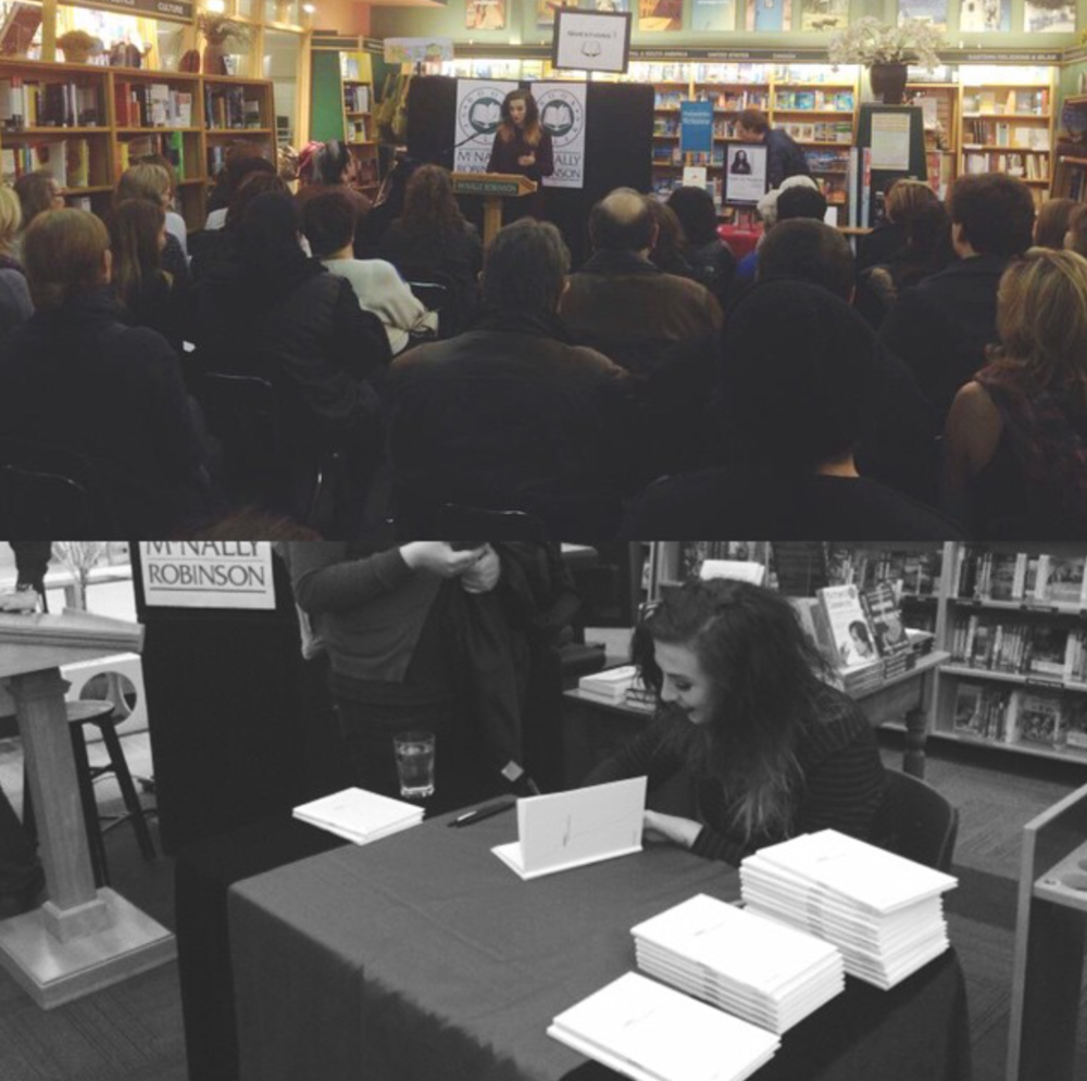 SOLD OUT BOOK LAUNCH AT MCNALLY ROBINSON