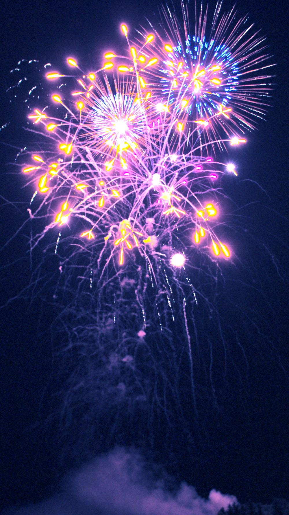 Fireworks in Kenora, Ontario, Canada Day 2012