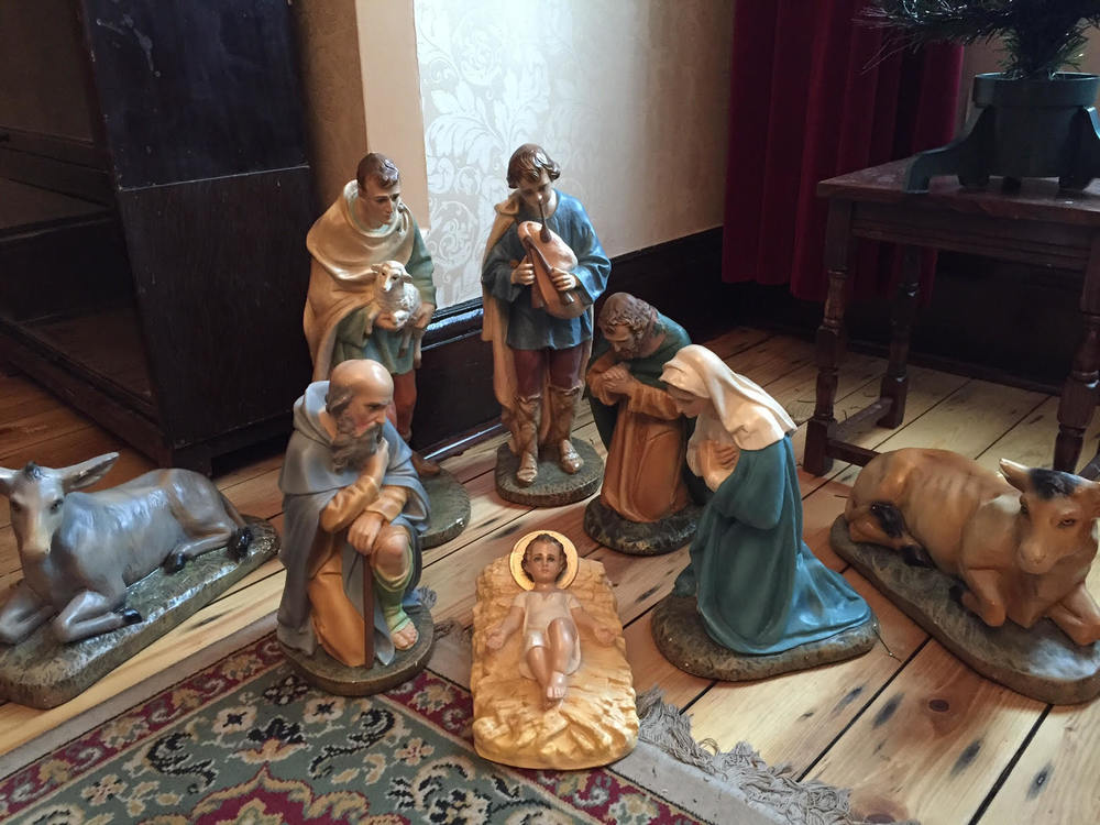 The Nativity scene at the YCW Headquarters in Trafford Park, Manchester.