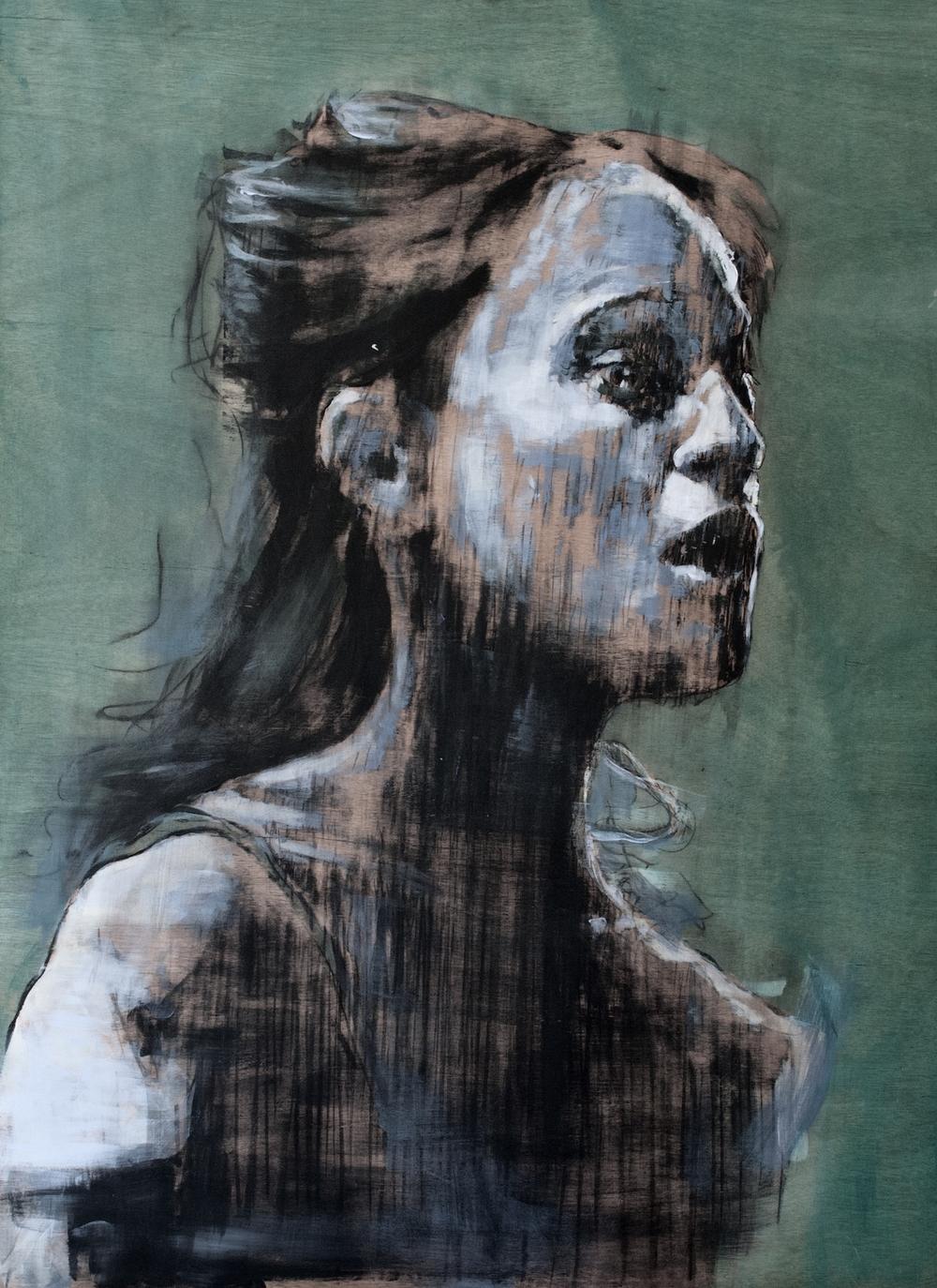 acrylic on wood  81 x 60 cm  2012
