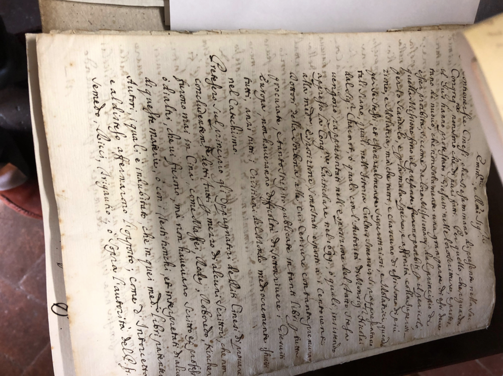 One of the many manuscripts on the Chinese rites…