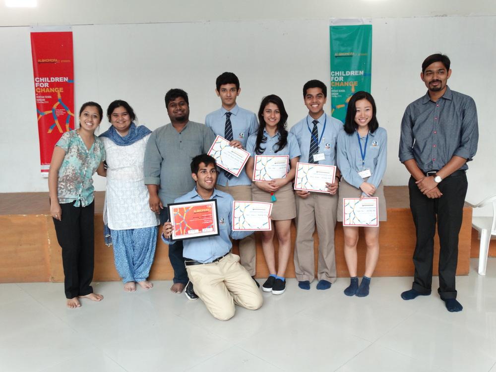 Pathways world schoolteam- winners of raahgiri challenge