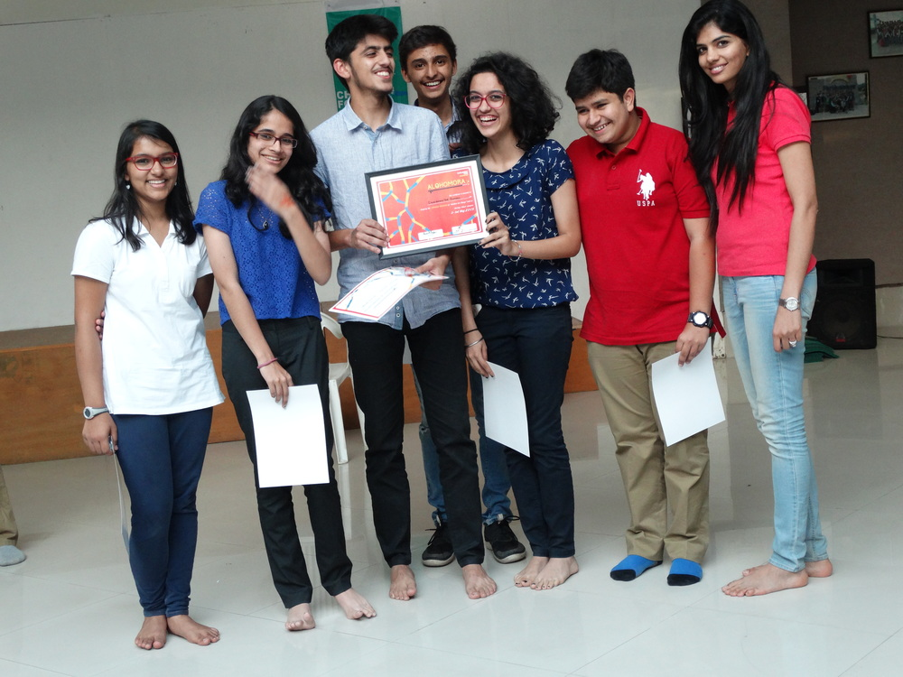 Shikshantar school team- winners of INdus action challenge