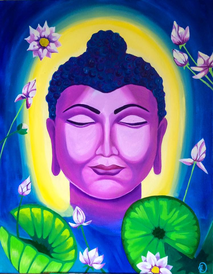 """Buddha Betty"", oil on canvas"