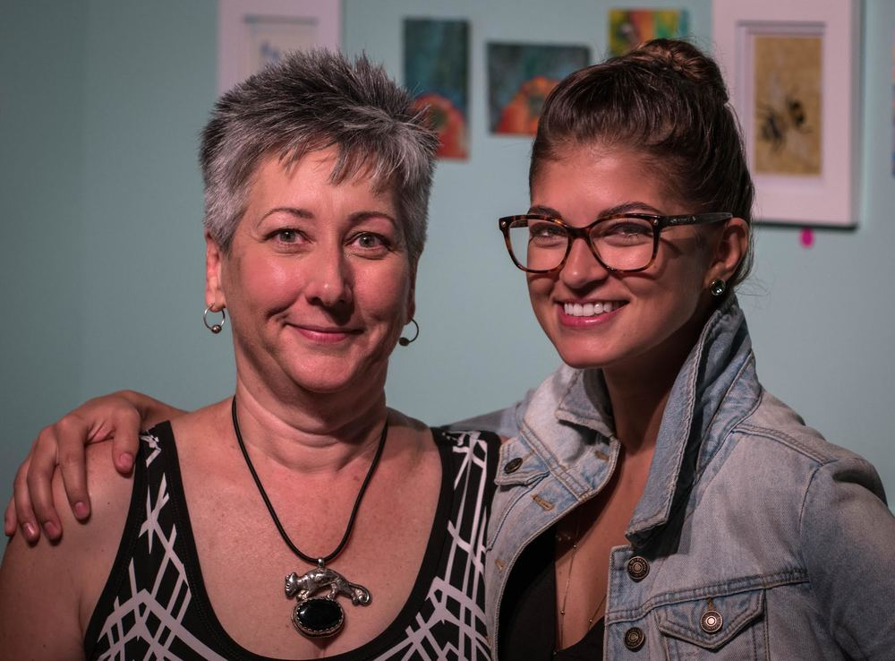 "Susan & I at the opening of Fabulon's ""Souveniers of Summer"" show, photo courtesy of  Morgan Seth Photography"