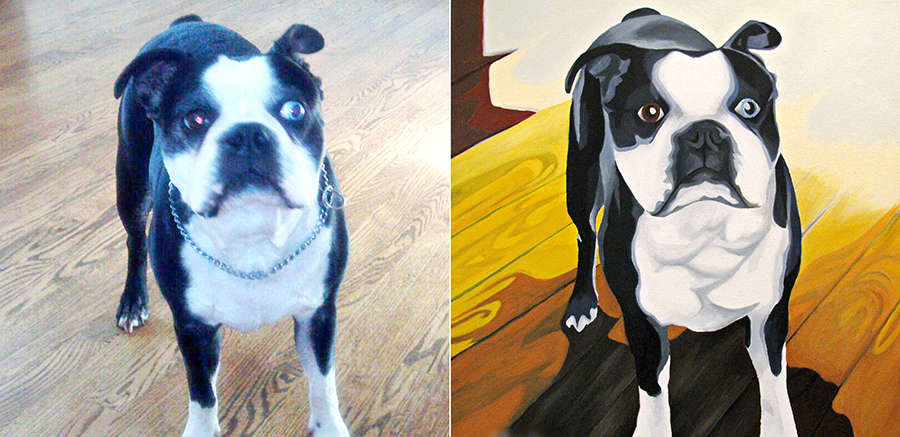 Example of a custom Pet Portrait
