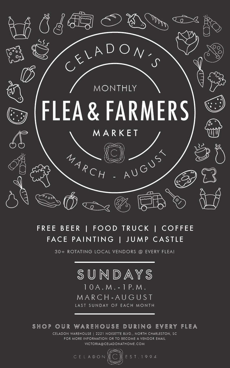 Come visit me at the Celadon Flea and Farmers Market. I'll be participating April, May, July and August.