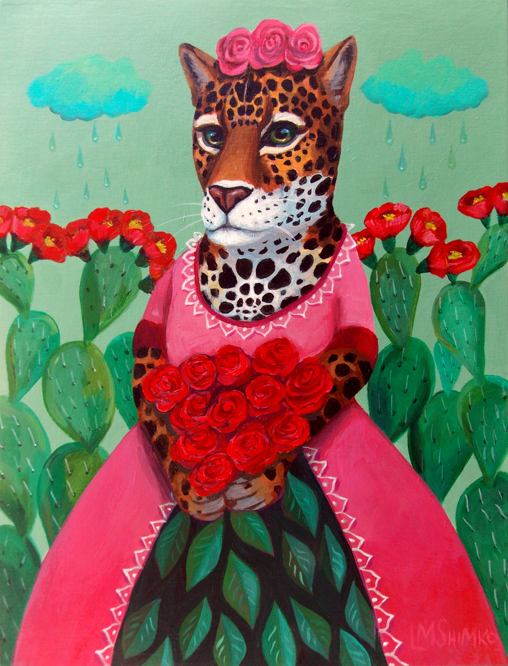 """Quinceañera (Jaguar Blossoms) I"", By Lisa M. Shimko"