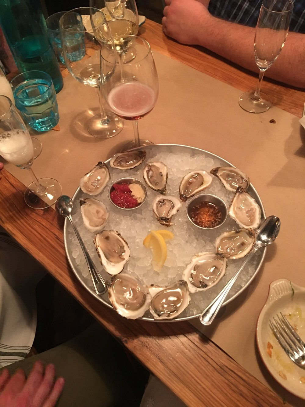 oyster love from our last stop of the day at 167 raw