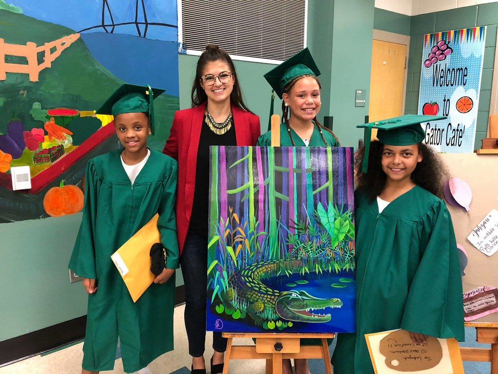 "These young scholars and their passion were my source of inspiration for the piece ""Gator Pride"""