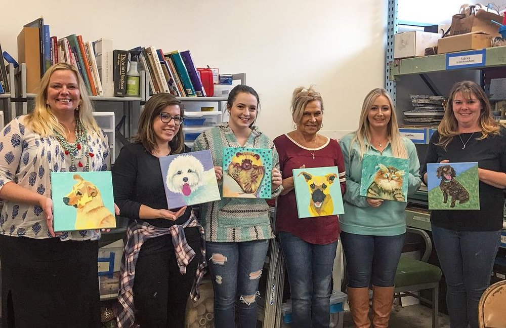 Paint your Pet workshops are always a blast!