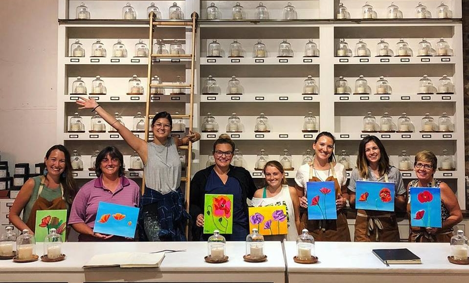 My students did amazing at the Poppy Painting workshop at Candlefish this summer!