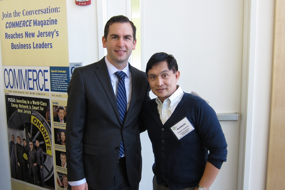 Co-Owner Humberto Colmenares with Jersey City Mayor Steven Fulop
