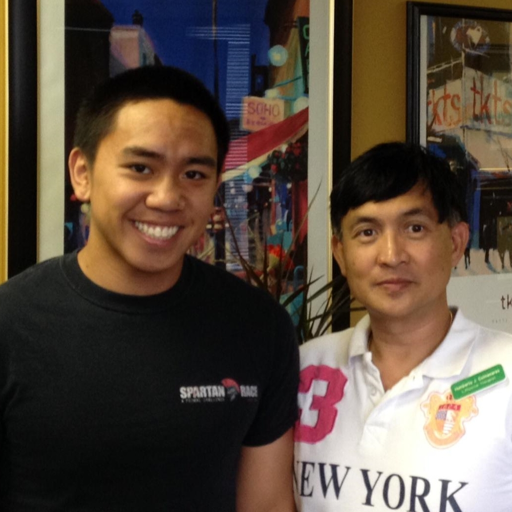 Jersey City Physical Therapist Humberto Colmenares with Jeremy Abuan