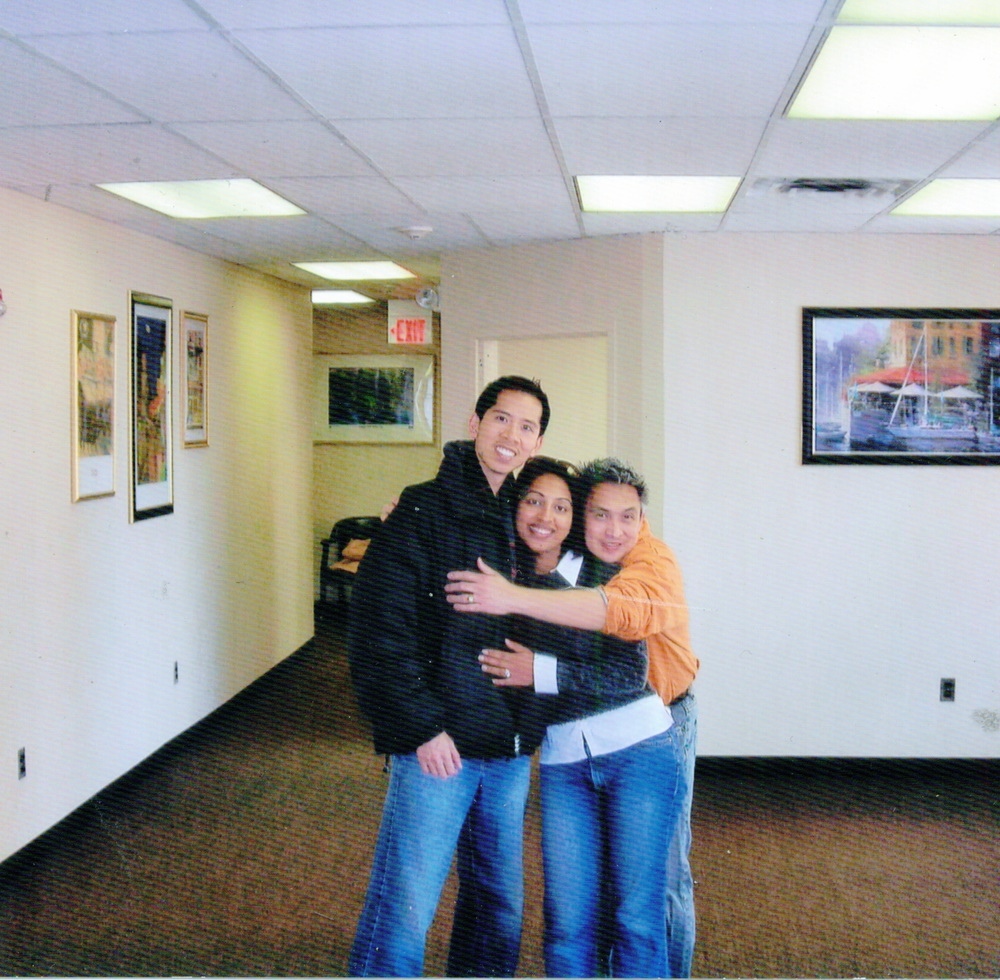 From L to R: Myself, Asha, and Humberto on our move-in day, March 9, 2007.