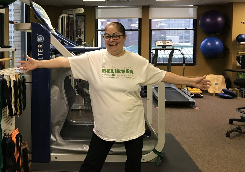 We're thrilled with Nelly's outcome with Physical Therapy in Jersey City!