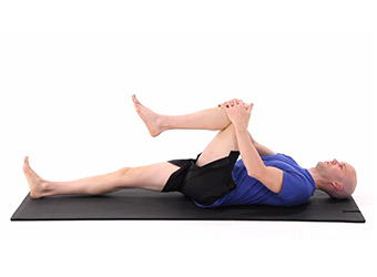 single+knee+to+chest Easy Back Pain Relief Exercises
