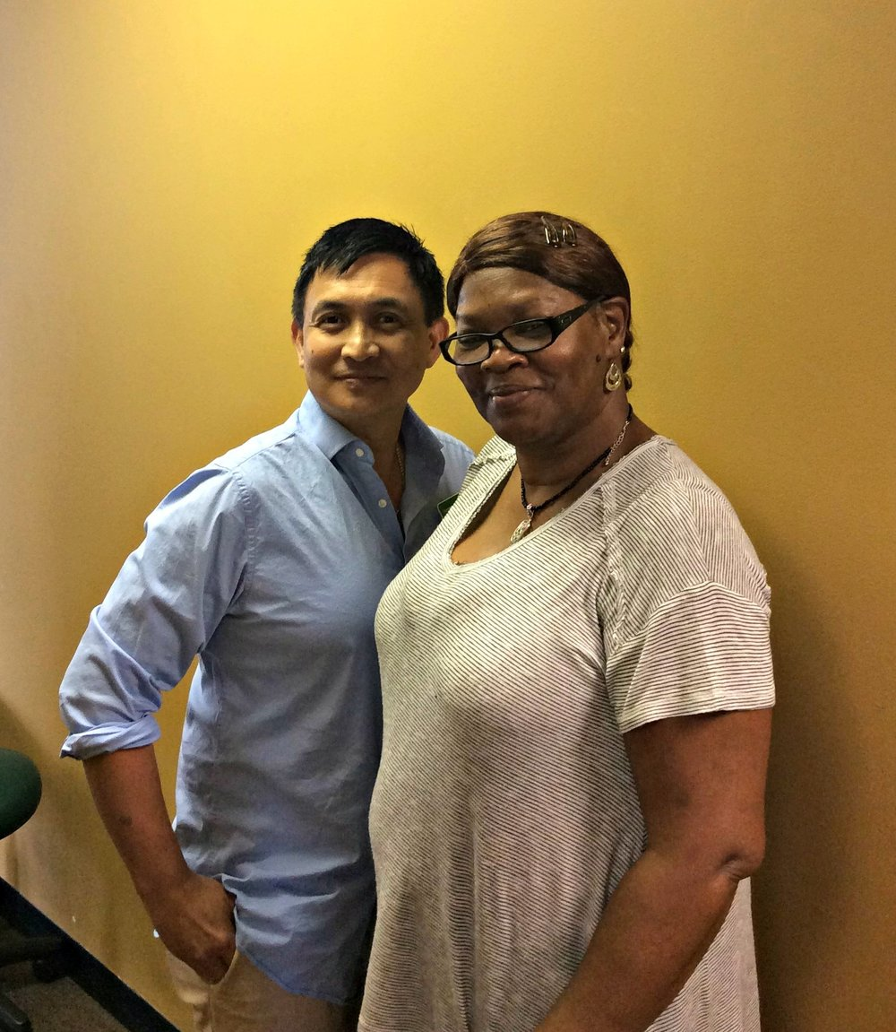 Jersey City  physical therapist  Humberto Colmenares  with Lillian, a new physical therapy success story!