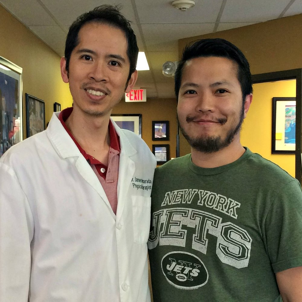 Danny, A Happy CPR Patient, And Physical Therapist Dr. James Pumarada
