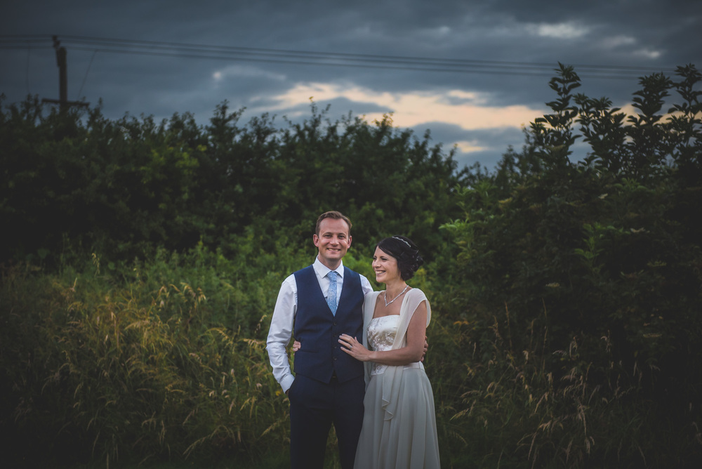 Bride & Groom English countryside sunset wedding at Gupshill Manor, Tewkesbury, Gloucestershire, UK
