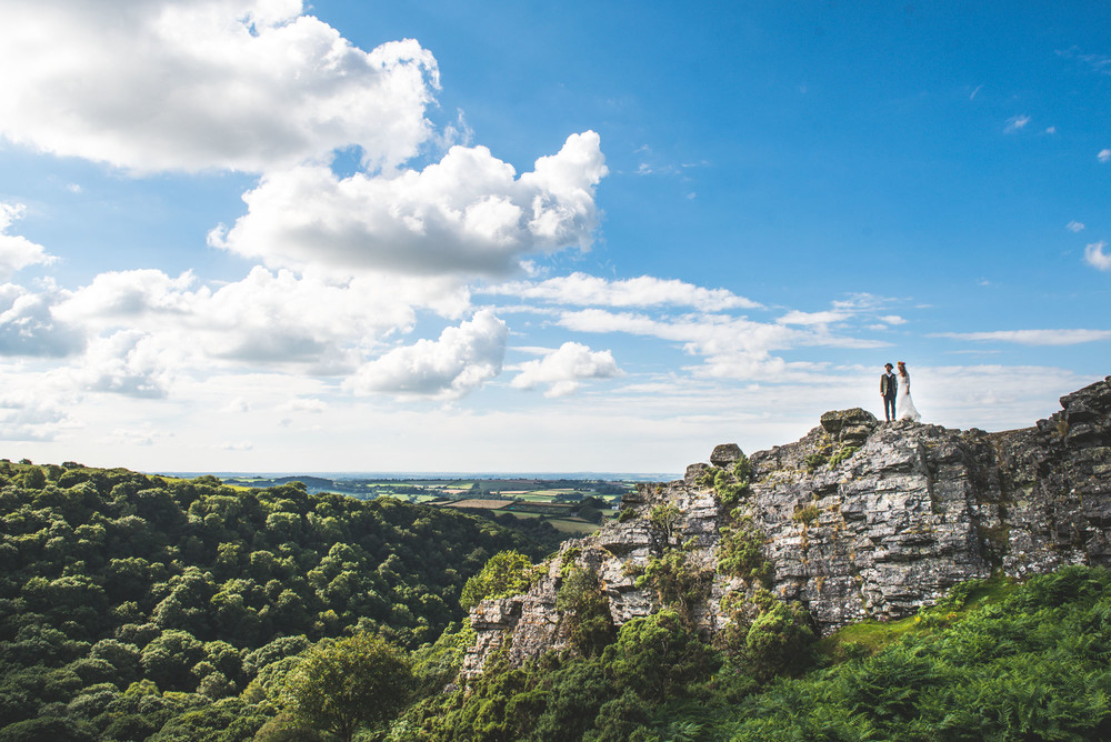 Festival wedding ceremony on the Moors, Devon