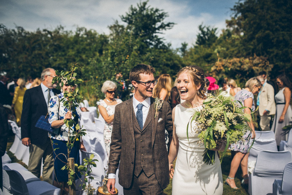 vintage Cotswold Tipi Wedding Bride and Groom