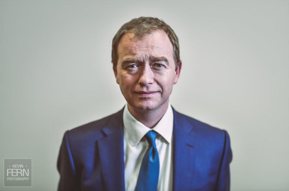 portrait of tim farron - ex liberal democrat political leader
