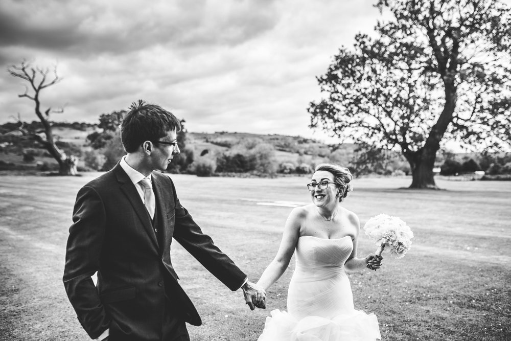Newlyweds at the greenway hotel in Cheltenham