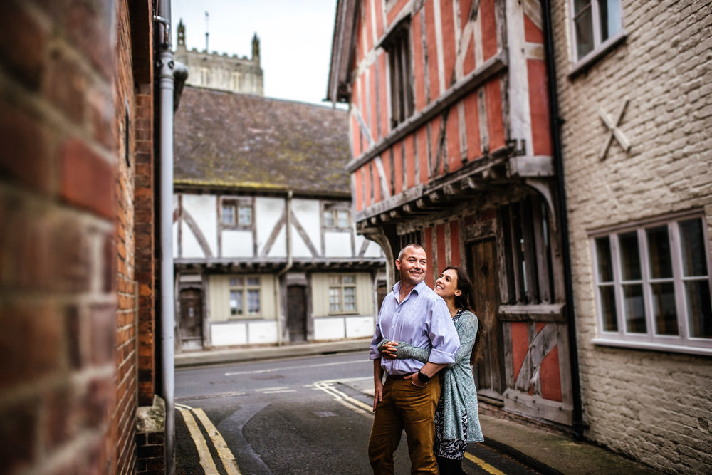wedding engagement shoot in medieval tewkesbury