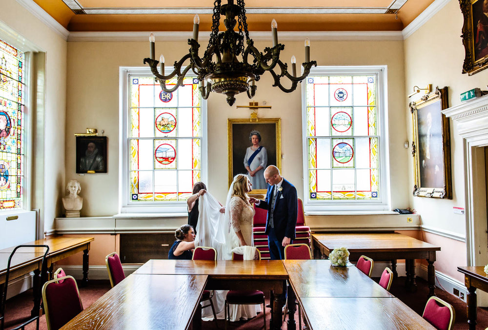Windsor bride watched by the Queen