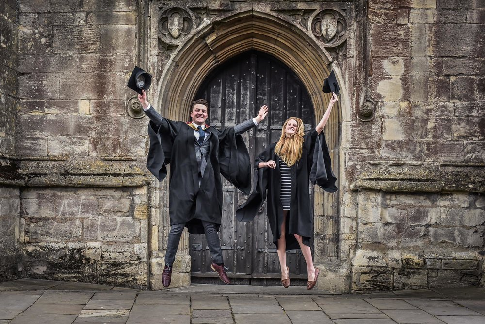 PR Photograph University Graduation Celebrations in Cirencester