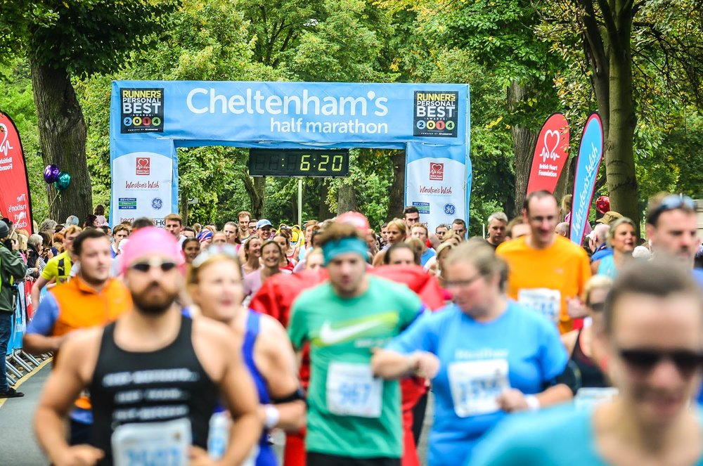 Event photograph of Cheltenham Half marathon
